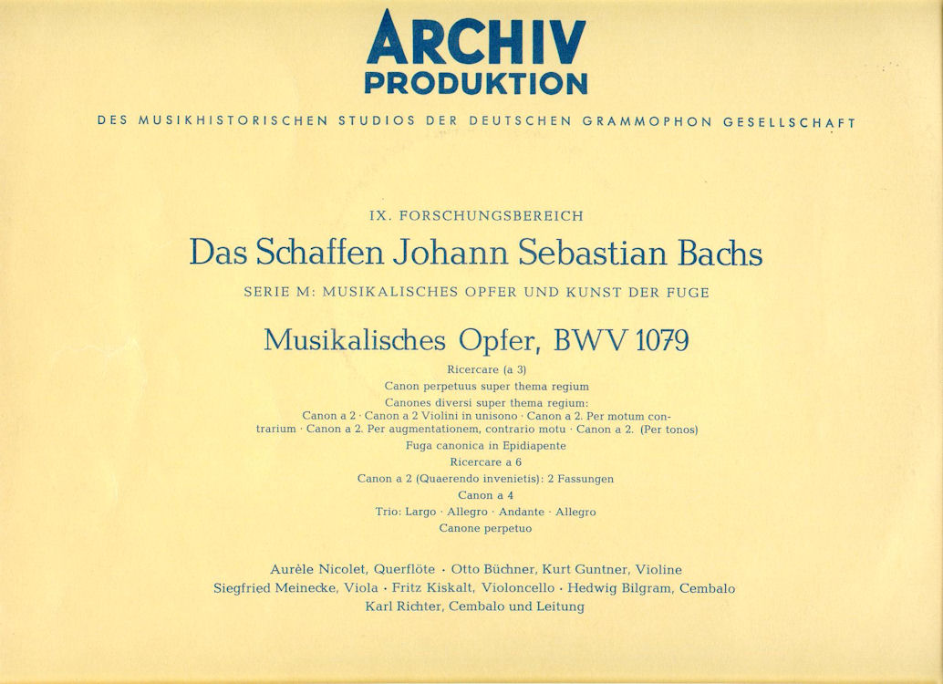musical offering bwv 1079 discography part 3 complete